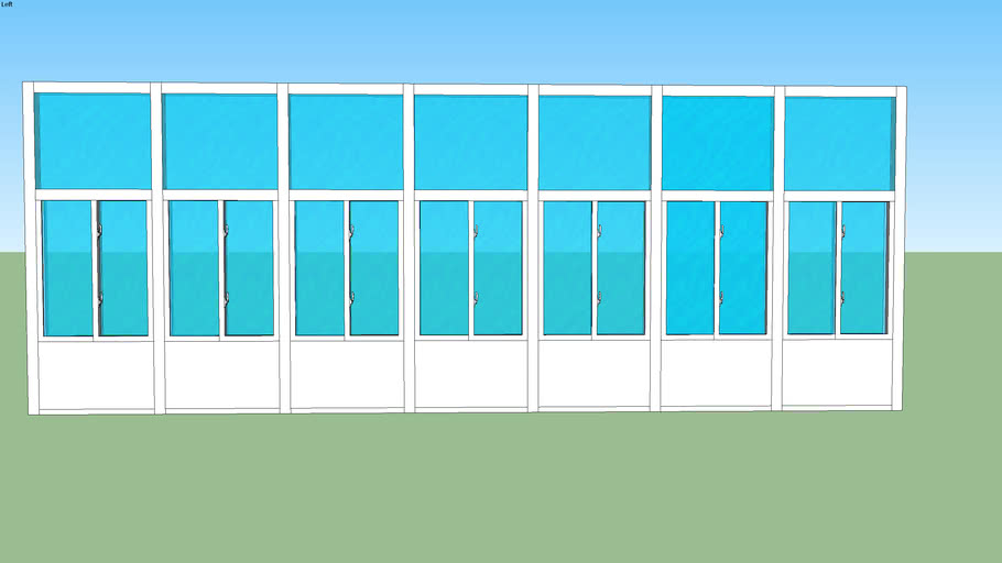 10x30 front wall glass@solid
