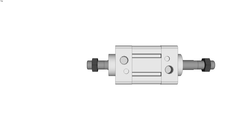 Square Tube Type Air Cylinder Standard Type Double Acting,Double Rod