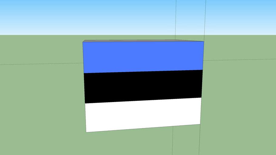 3d estonian flag