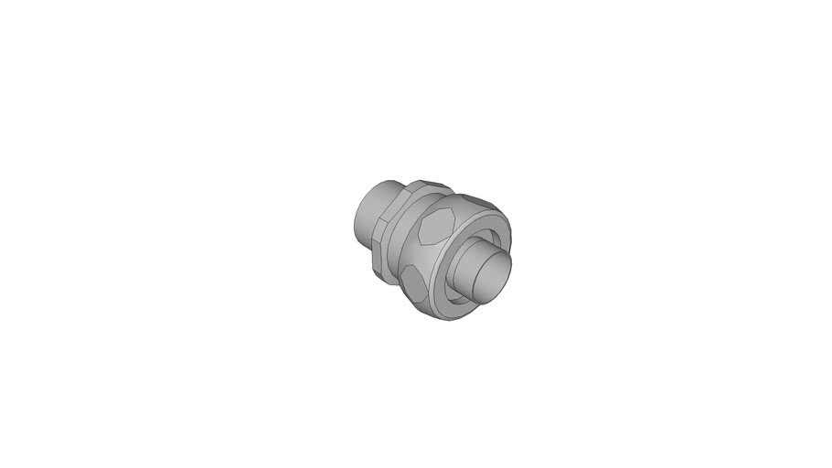 Hose coupling brass with inner bush for plastic protecting cover with wire braiding
