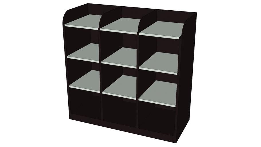9 Pigeon Hole Open Shelf Cabinet