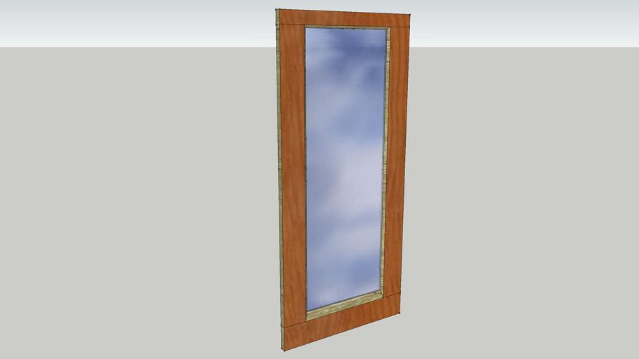 wood framed glass disabled door