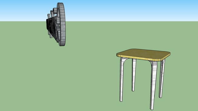 white stool by sb