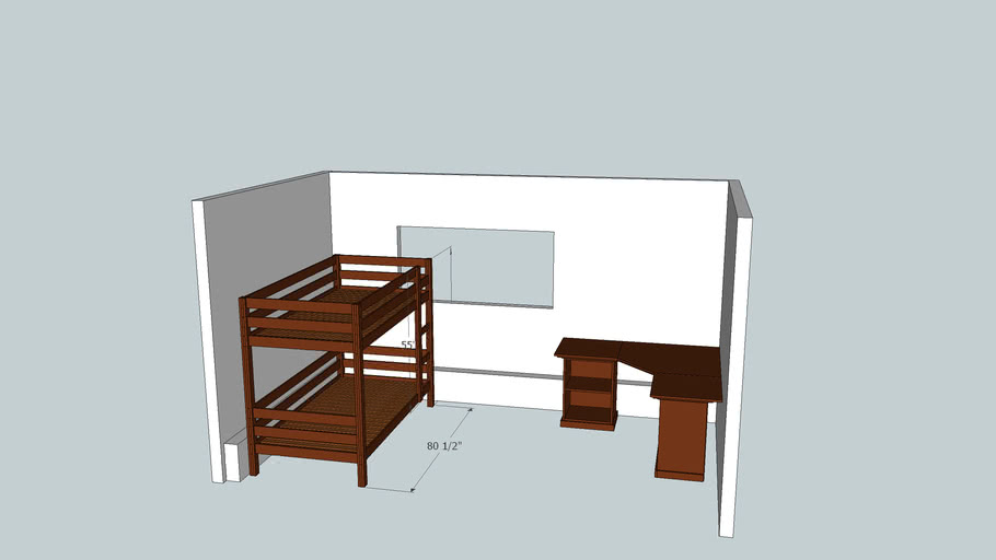 Beds and Desk