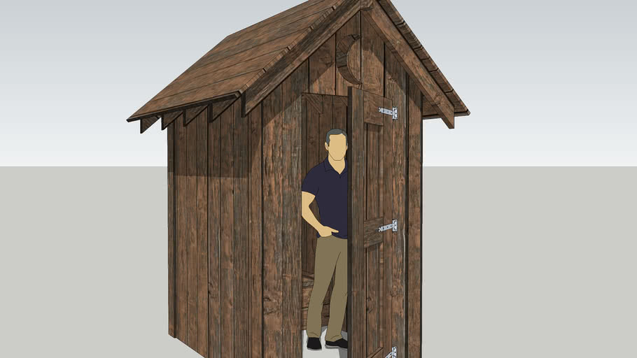 Out House Outhouse Bathroom Toilet Stall Outdoor 3d Warehouse