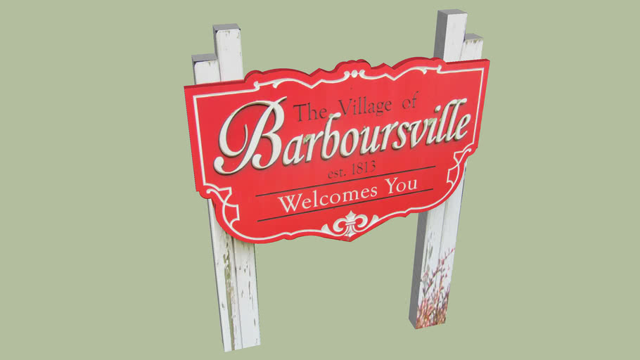Welcome Sign Barboursville, West Virginia