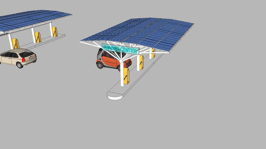 parking lot solar power generating station