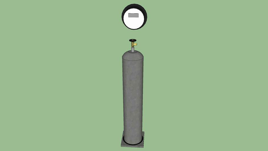 Chlorine Tank on Scale