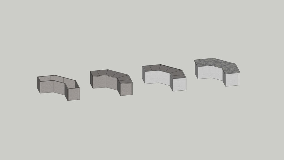 9' FF Angled Outdoor Kitchen Island kit by Stone Age Manufacturing.