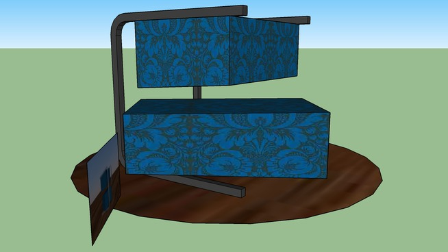 Blue patterns side table