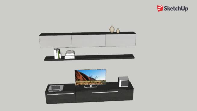 mondo convenienza parete soggiorno skema | 3D Warehouse