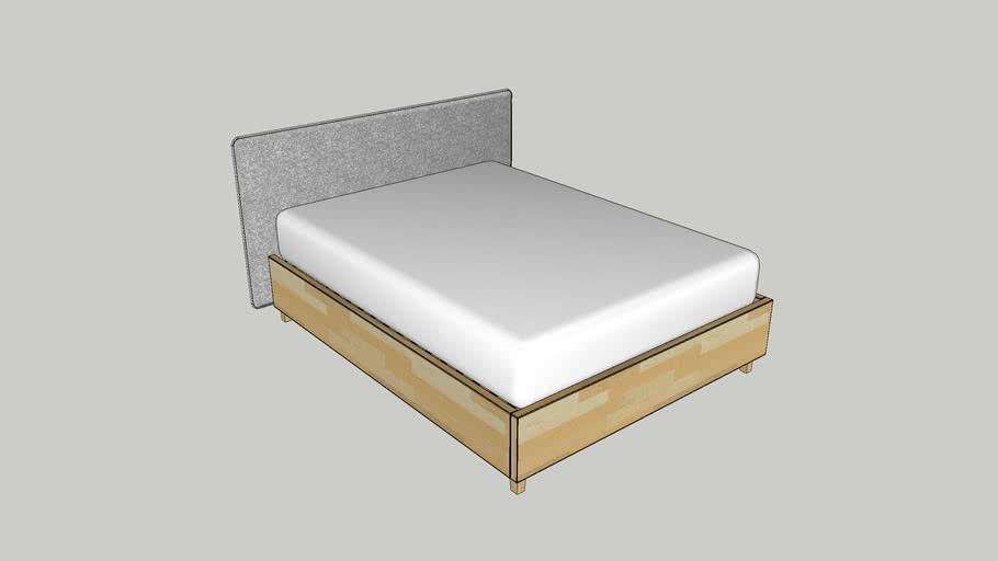 Queen size Bed 60 x 80