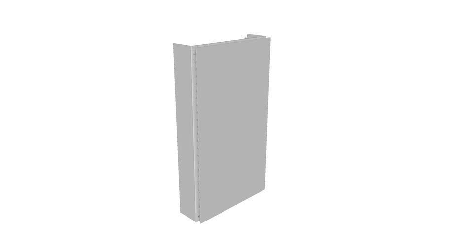K-R79217 15 x 26 Flat Mirrored Cabinet