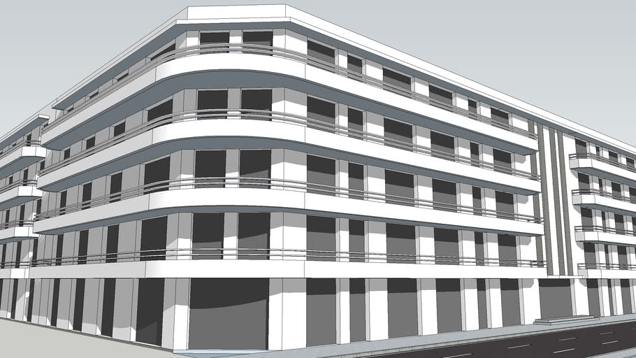 immeuble stramline moderne façades et volumes imaginaires