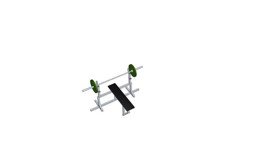 weight bench w/barbell