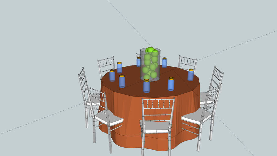 wedding table with mason jars