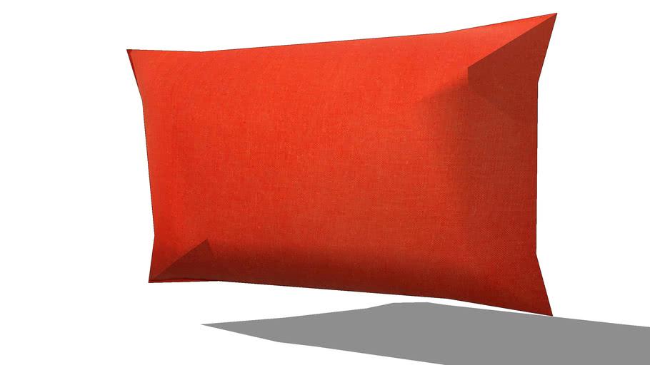 Coussin en lin lavé corail 30 x 50 cm REF 148056 PRIX 14.99€