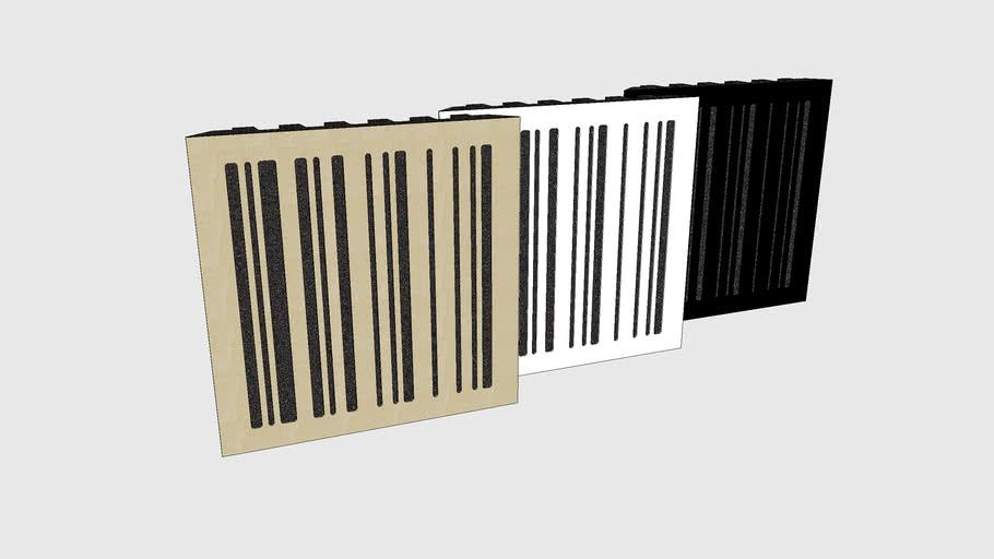 Skum Acoustics - Streckkod - Wooden acoustic panel