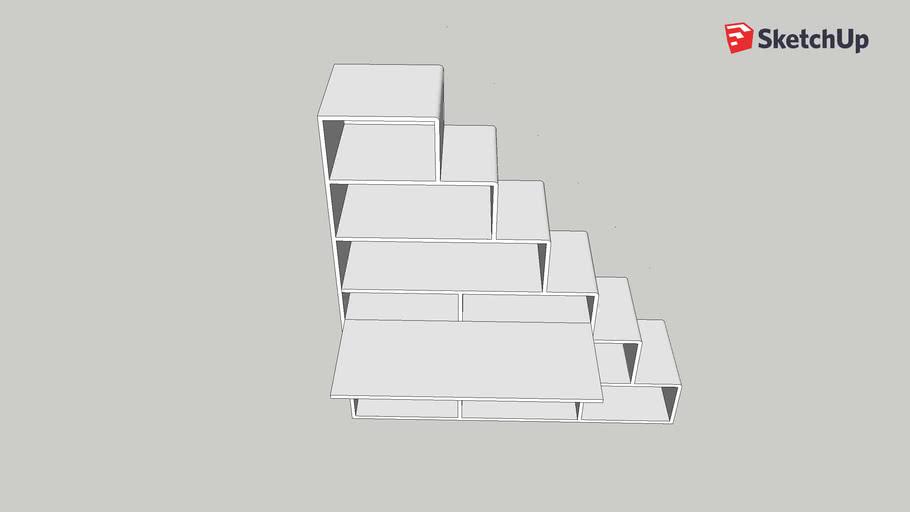 Modern stair shelf