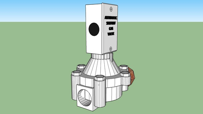 Automatic shutoff gas valve