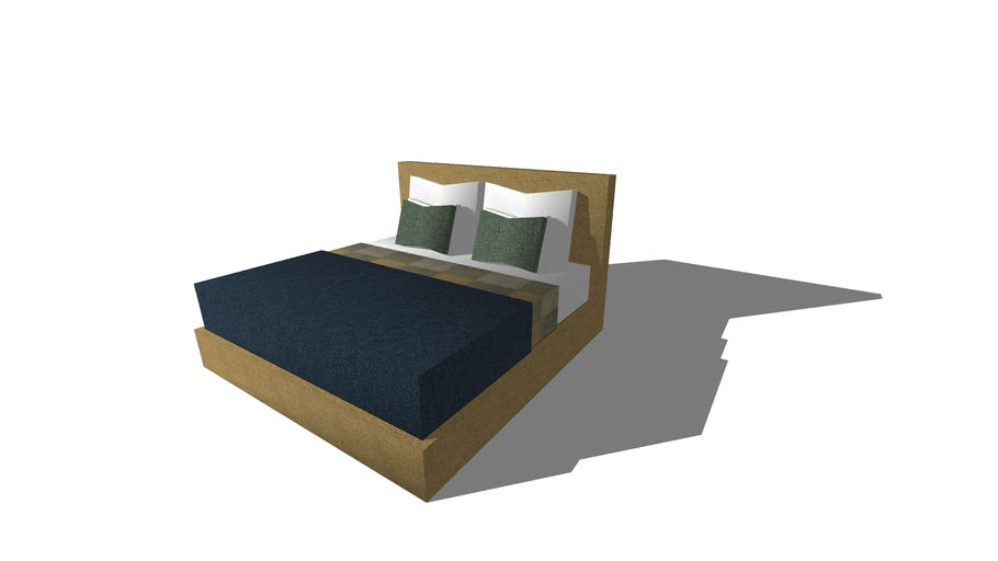 King Size Double Bed 200x200 Cm 3d, What Size Is A Double Bed In Centimetres