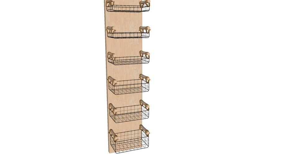 82215 Wall Shelf Basket