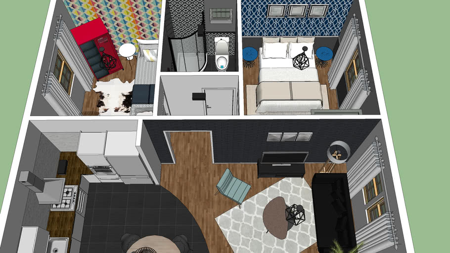 House Interior Design Full Furnished 3d Warehouse