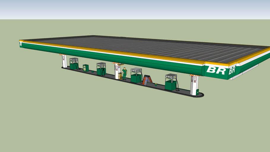 Posto BR Petrobras. Gas Station Brazil