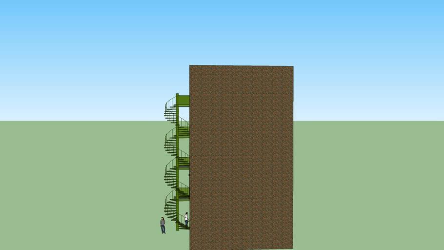 trap met voorbeeld gebouw aalders