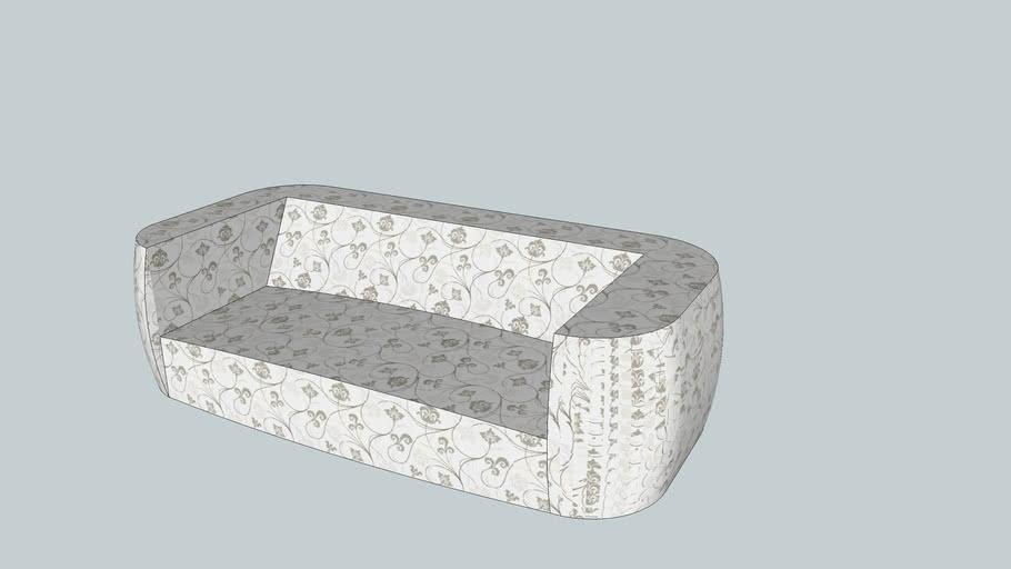 Sofá com caracteristica mais baixo e sem almofada