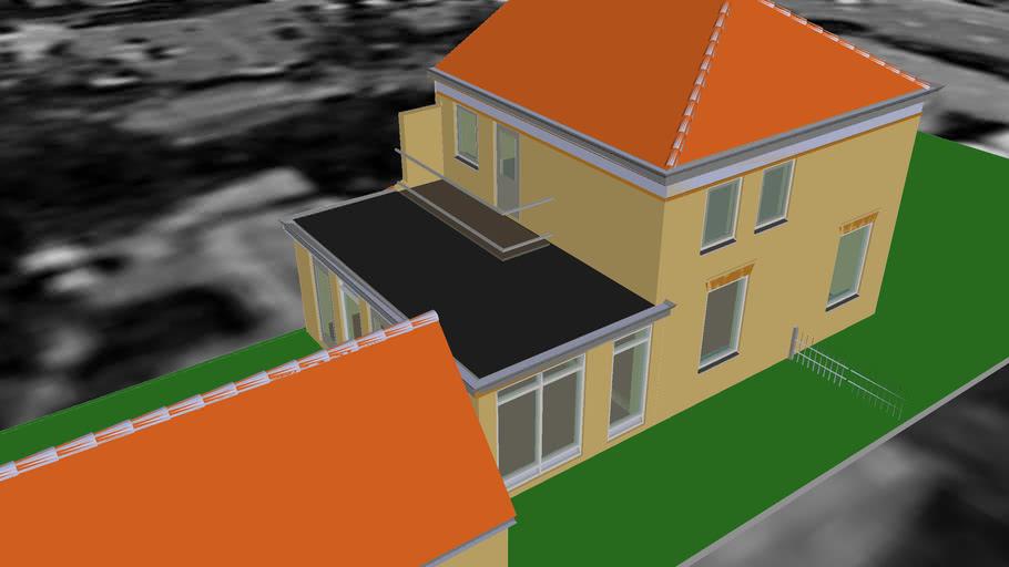 Woningrenovatie + aanbouw en garage, Architectuur Design