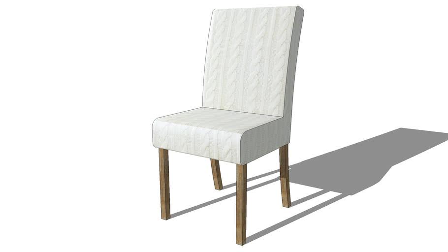MARGAUX, Housse de chaise tricotée blanche, Maisons du ...