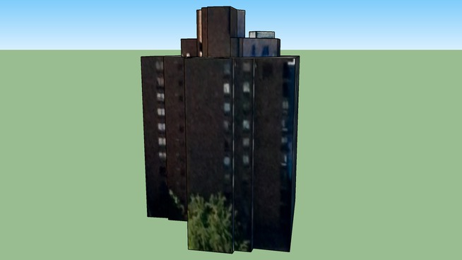 Brown bricked apartment building in Ottawa, ON, Canada 122811