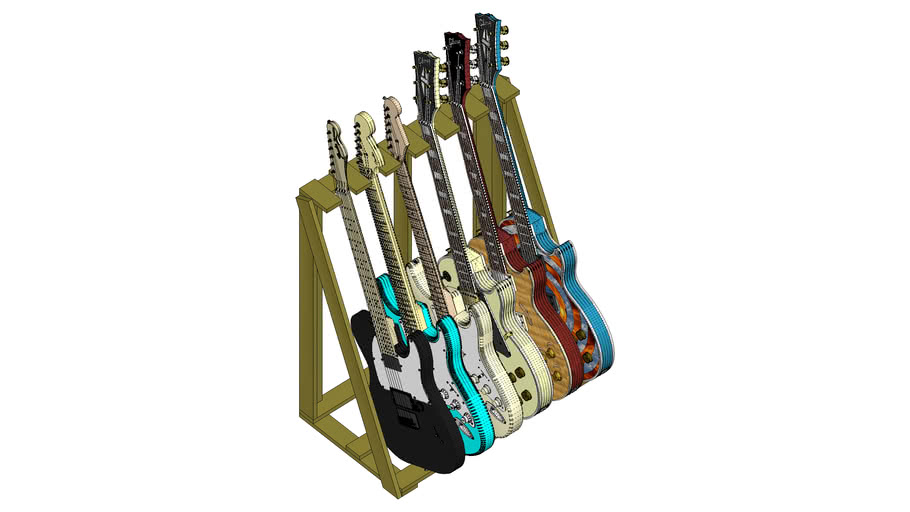 PALLETS GUITAR STAND