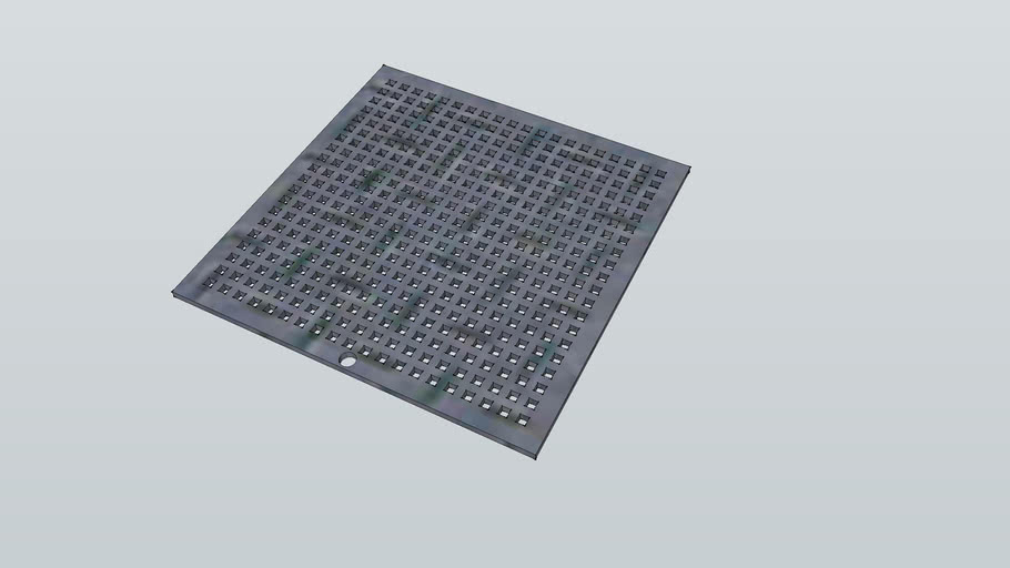 Square foot drain cover
