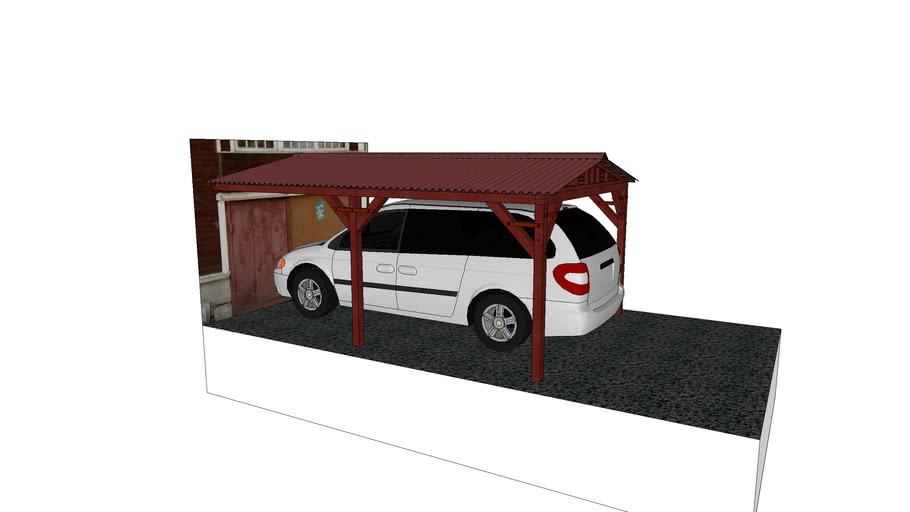 Навес для машины перед гаражем (5м*3.3м*2.33м)