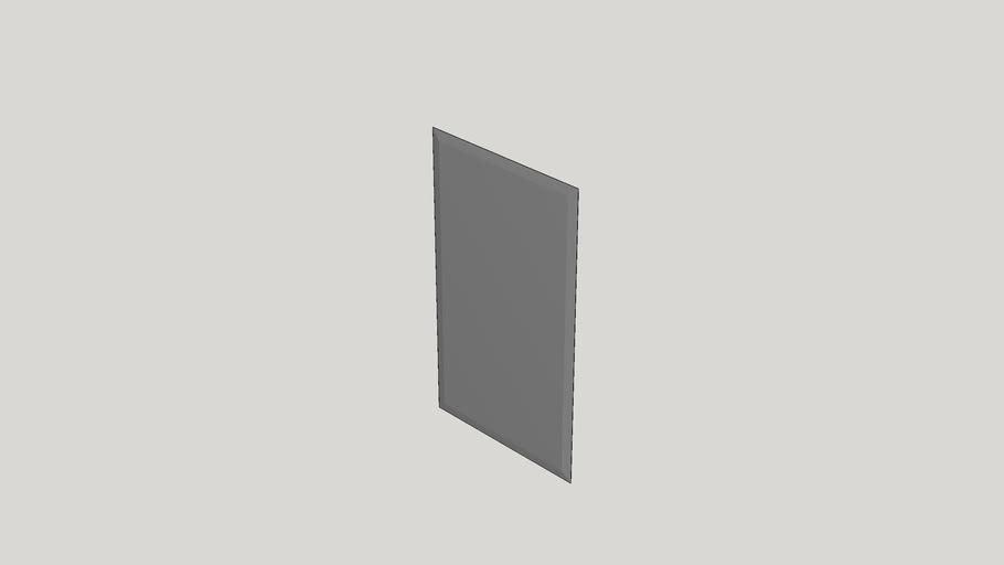 Frameless Beveled Rectangular Wall Mirror