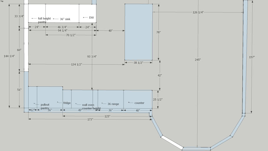 kitchen plan open layout french doors