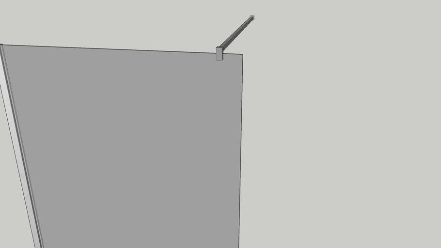 Shower Walk-in Panel W900 x D900x H2000mm Left Handed