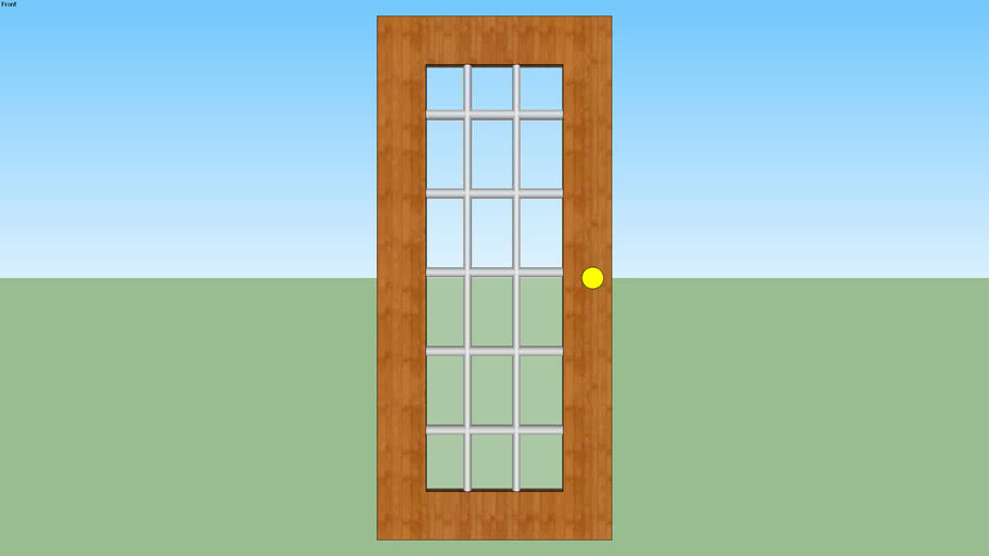 Windowed Door- Wood Frame