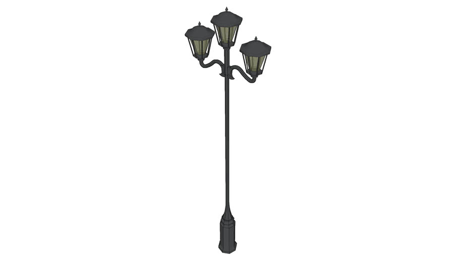 Victorian Wrought Iron Street Lamp - Number 5
