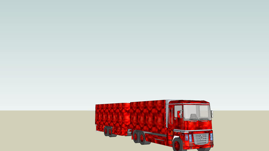 renault full truck and trailer