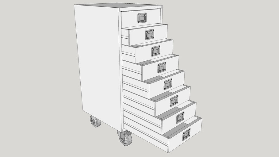 8-Drawer Small Parts Cabinet
