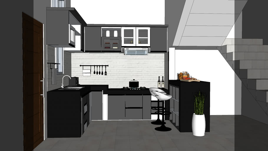 Kitchen Set Mini Bar 3d Warehouse