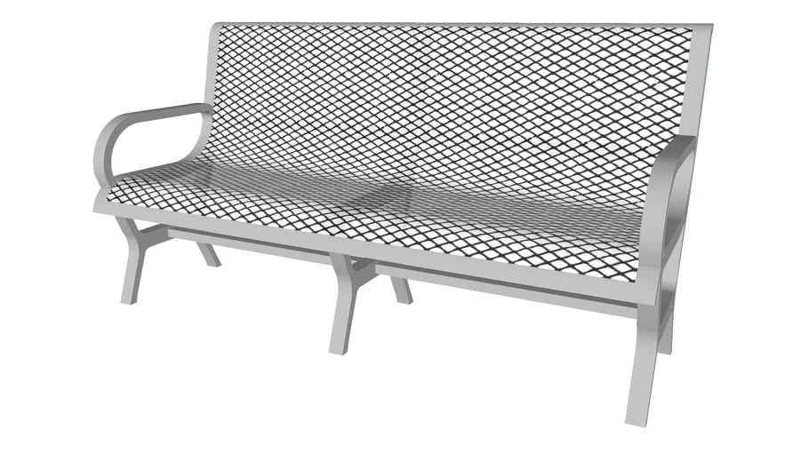 Pinched Legs Metal Wire Bench