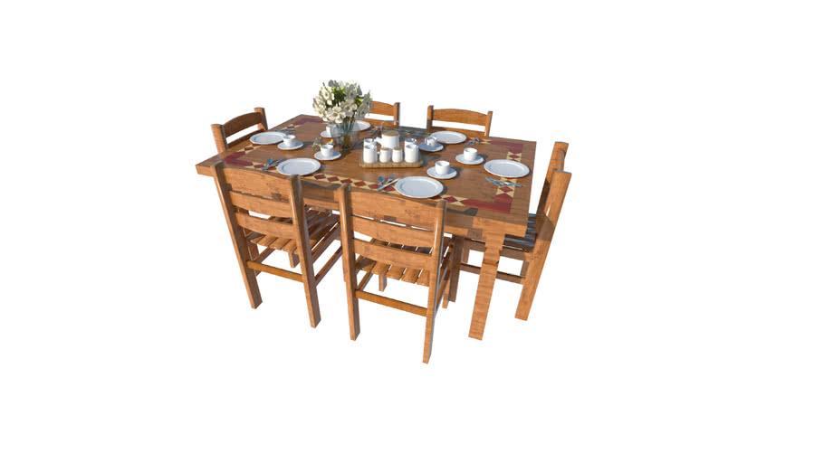 Rustic Table - Mesa Rústica - Vray ready