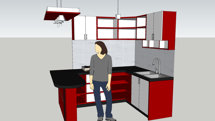 Kitchen Set Minimalis 3d Warehouse