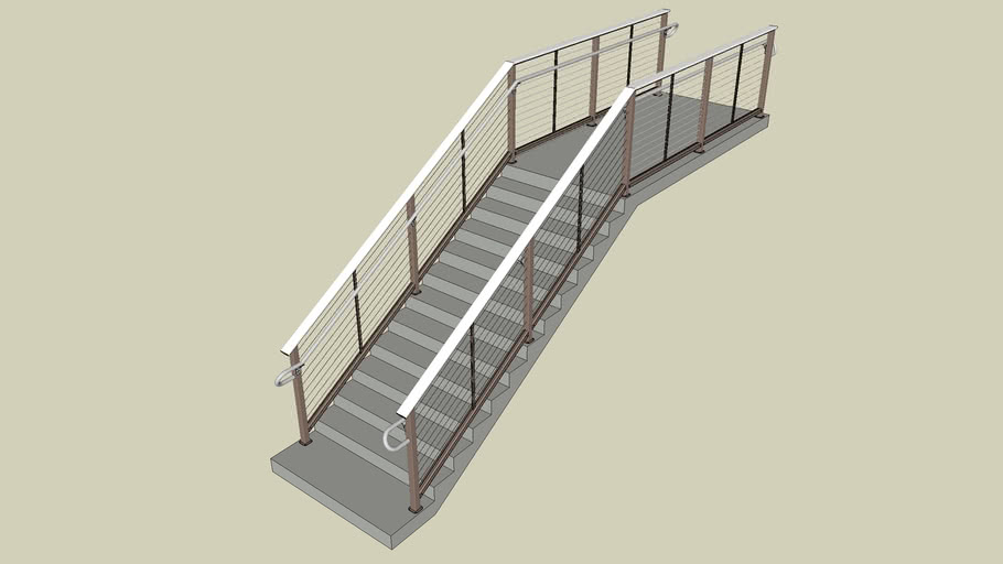 06 DesignRail® Aluminum Railing System with Picket Infill - Stairs