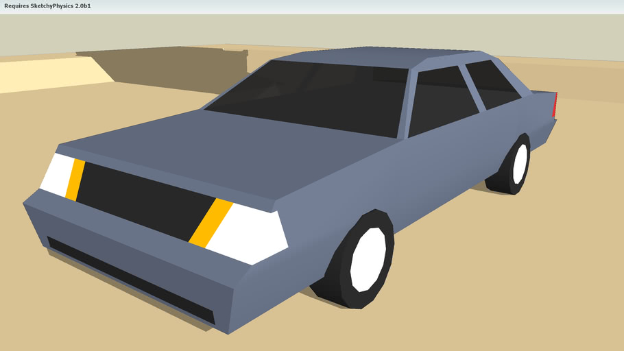 Another, yes ANOTHER, sketchyphysics crashing car.