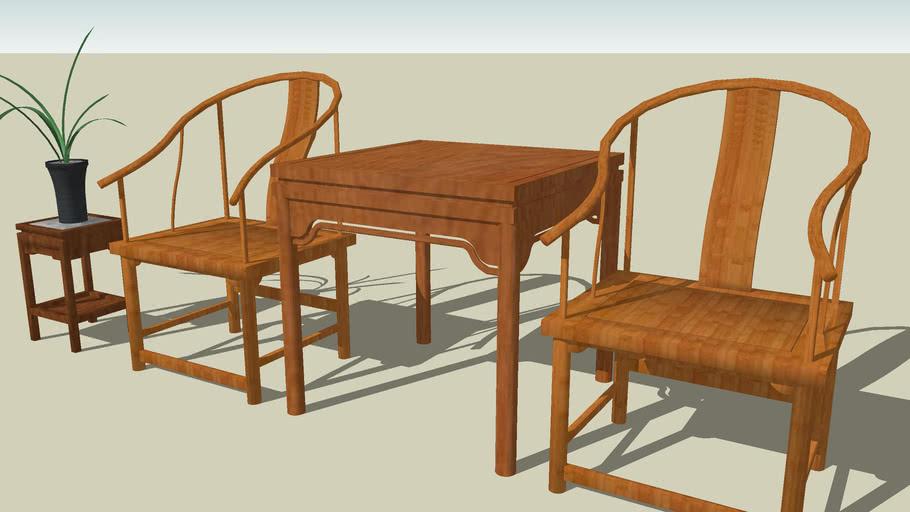 明式椅 Chairs in Chinese style